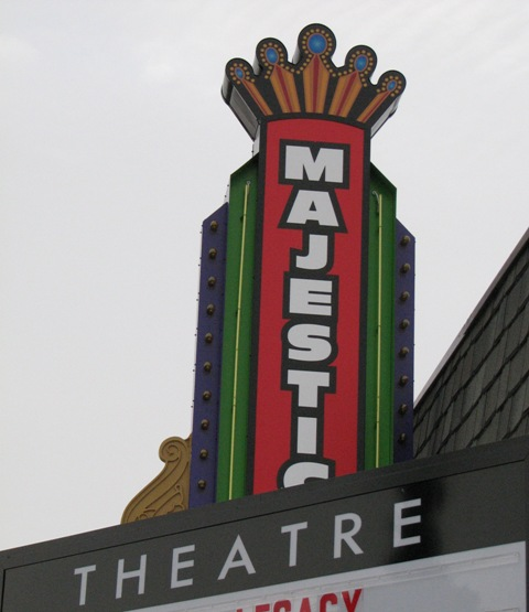The Marque of the Majestic Theater in Wayne